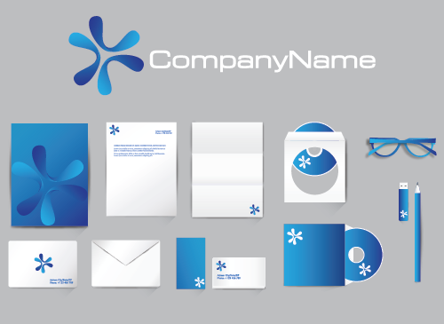 Marke Logo Visitenkarten Briefpapier Corporate Design