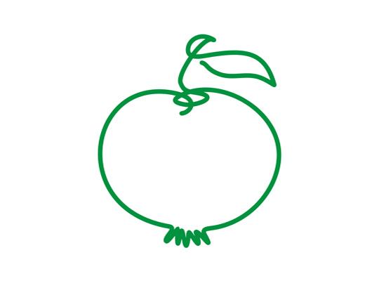 Stilistischer Apfel