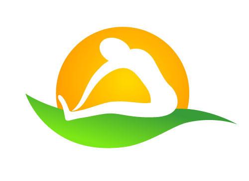 Person Macht Dehnübung Logo Für Physiotherapie Logomarket