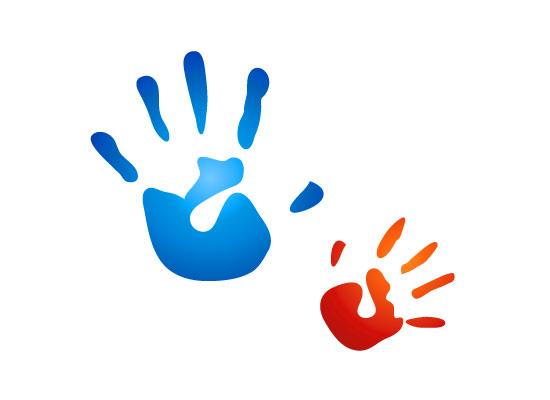 Hu00e4nde - Kinderhu00e4nde - Logo fu00fcr Kindergarten