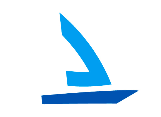 Stilistisches Segelboot Logo