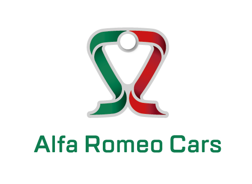 Alfa Romeo Kühler in Verbindung mit italienischer Fahne