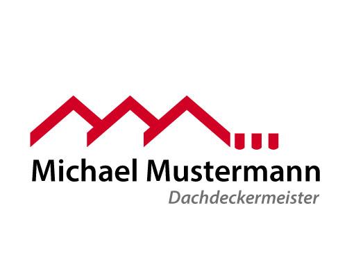 Logo Dächer, Dachdecker, Schornsteinfeger,
