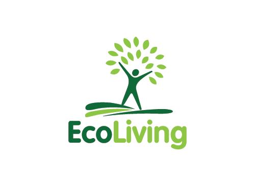 Ökologie Logo, Natur Logo , Baum Logo, Blatt, grün, Recycling