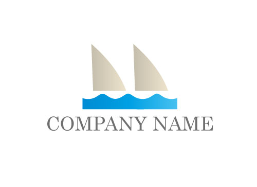 Zeichen, Zeichnung, Wellen, Segel, Boot, Sport, Schiff, Logo