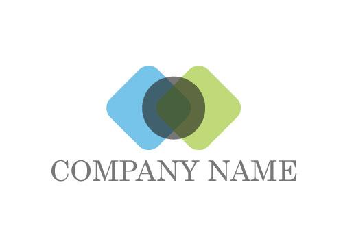 Zwei Rechtecken, Kreis, Multimedia Logo