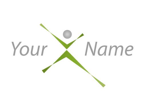 Abstrakte Person In Bewegung Logo Logomarket