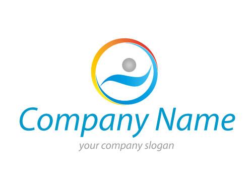 Zeichen, Zeichnung, Symbol, Schwimmer, Person, Sport, Fitness, Logo