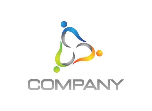 Menschen Logo, Gruppe Logo, Dreieck Logo, Energie Logo