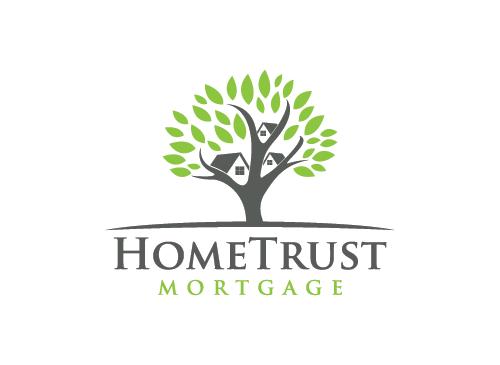 Immobilien Logo, Versicherungen Logo, Hypotheken Logo, Haus Logo, Baum Logo