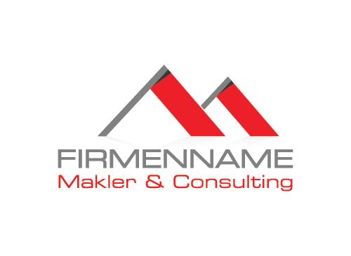 Immobilien Logo, Grundstücke , Architektur, Bau, Makler Logo