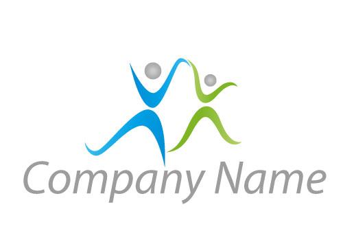 Zwei Personen tanzend Logo