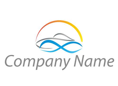 Zeichen, Zeichnung, Symbol, Sonne, Boot, Schiff, Logo