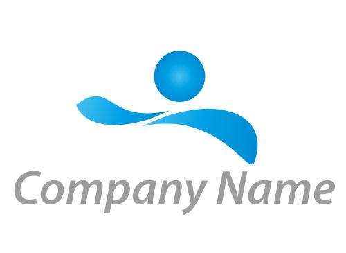 Zeichen, Zeichnung, Wellen, Person, Bewegung, Schwimmer, Logo