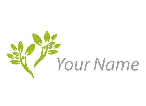 Zwei Personen, Bäume Logo