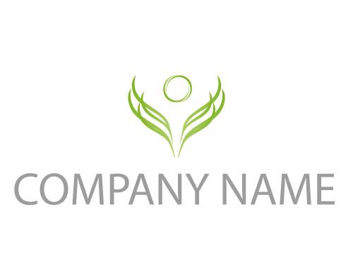 Eine Person Pflanze Blätter Logo Logomarket