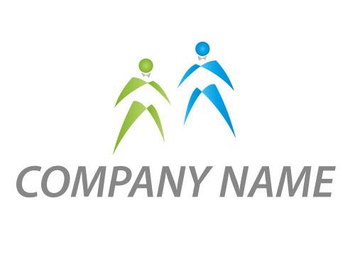 Zwei Personen, Menschen, Shopping Logo