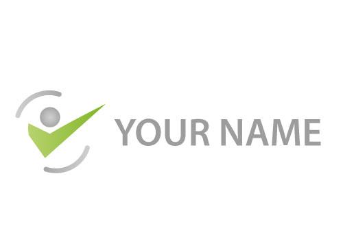 Person In Bewegung Mensch Logo Logomarket