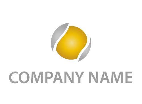 Zweifarbig, Kreis, Geld und Finanzen Logo