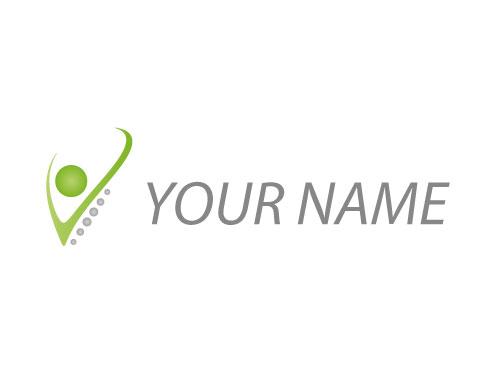 Ökomedizin, Zeichen, Zeichnung, Mensch, Person, Wirbelsäule, Logo