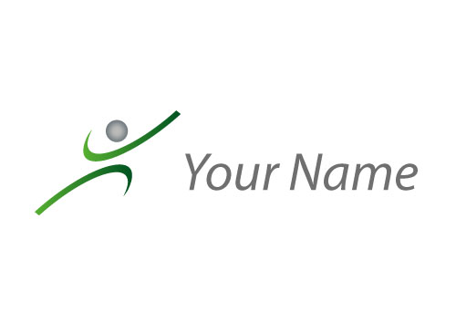 Person in Bewegung, Sportmedizin, Logo