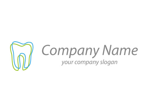 Ökozähne, Zähne, Zwei Zähne, Logo