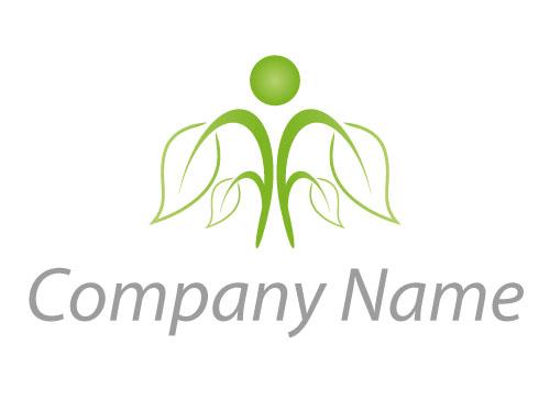 öko Zeichen Zeichnung Person Pflanze Baum Logo Logomarket