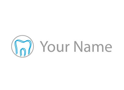 Ökozähne, Zähne, Zwei Zähne, Kreis, Logo