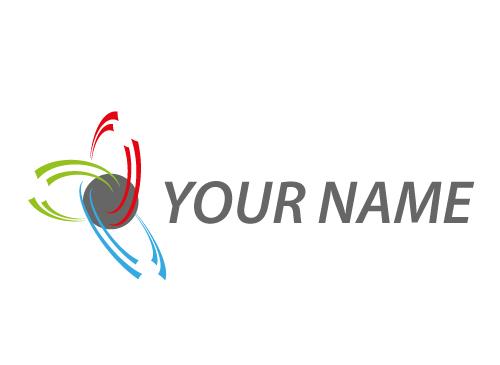 Zwei-wellig, Kugel und viele Halbkreise, Wellen, Logo