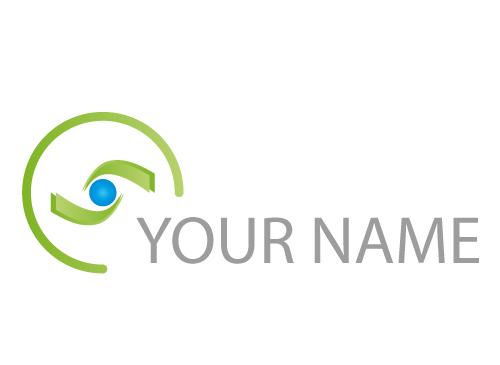 Zwei Spirale, Auge Logo