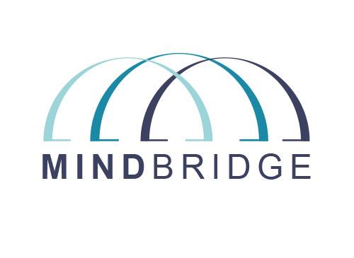 Zeichen, zweifarbig, Signet, Symbol, Bogen, Brücke, Bauwerk, M, Logo