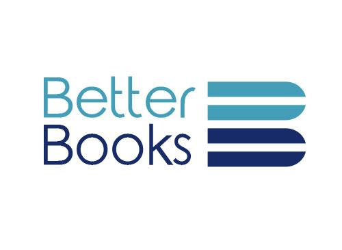 Zeichen, zweifarbig, Signet, Symbol, Buch, Buchstabe, B, Logo