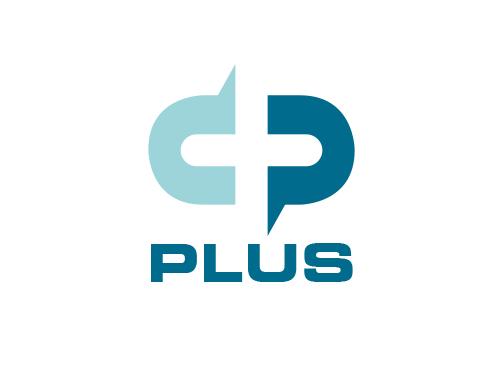 Zeichen, zweifarbig, Signet, Symbol, C, P, Plus, Logo