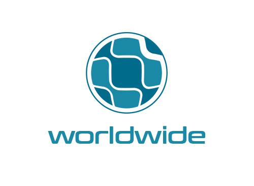 Zeichen, zweifarbig, Signet, Symbol, Spedition, Transport, Logistik, Erde, Logo