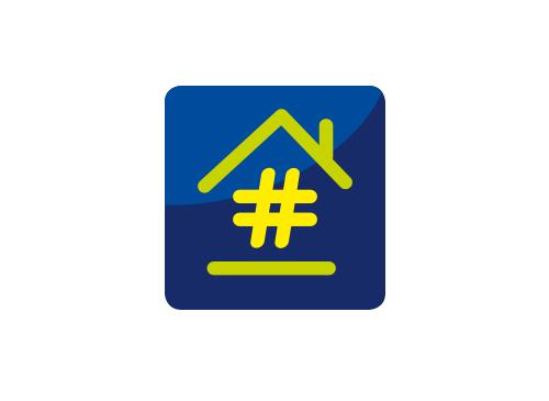 Zeichen, Signet, Logo, Haus, Immobilie, Smarthome, Hashtag, Handwerk ...