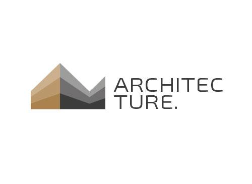 Zeichen, Zeichnung, zweifarbig, Signet, Haus, Immobilie, Architekt, Logo