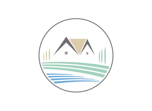Ökologie, Signet, Symbol, Reet, Wasser, Natur, Immobilie