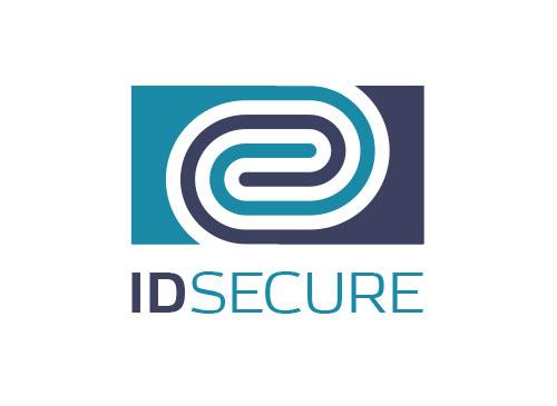 Zeichen, zweifarbig, Signet, Symbol, ID, Security, Fingerprint