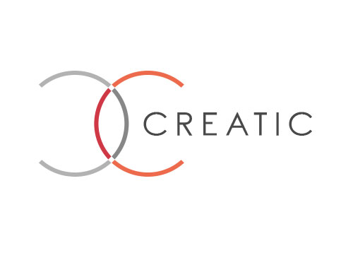 Zeichen, Zeichnung, zweifarbig, Segmente, Kreise, Creativ, C, Logo