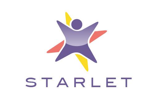 ö, Zeichen, Signet, Symbol, Mensch, Kind, Stern, Starlet, Logo