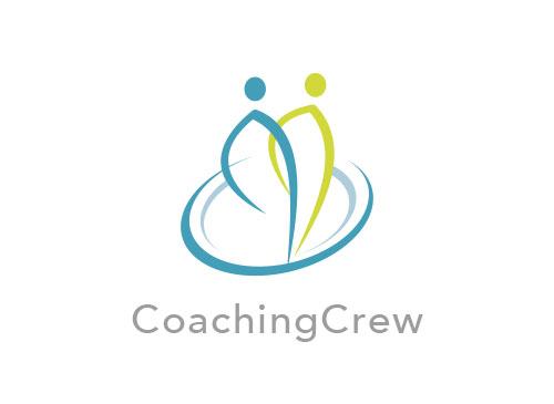 Zwei Menschen, Zeichen, Signet, Skizze, Logo, Mensch, Arztpraxis, Coaching
