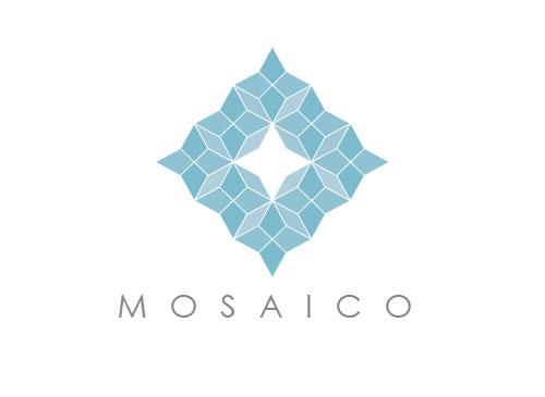 Zeichen, zweifarbig, Signet, Symbol, Stern, Mosaik, Verbund, Handwerk, Logo