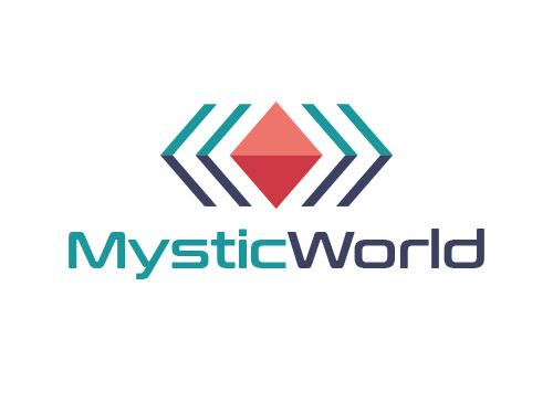 Zeichen, Signet, Symbol, Rubin, Edelstein, Raute, Winkel, M, W, Logo