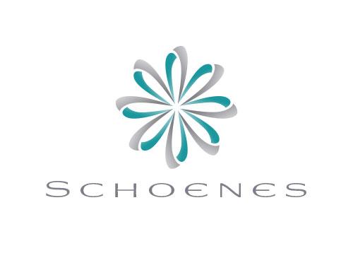 Zeichen, zweifarbig, Zeichnung, Schleife, Blume, Logo