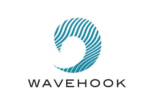 Zeichen, zweifarbig, Signet, Symbol, Welle, Haken, Logo