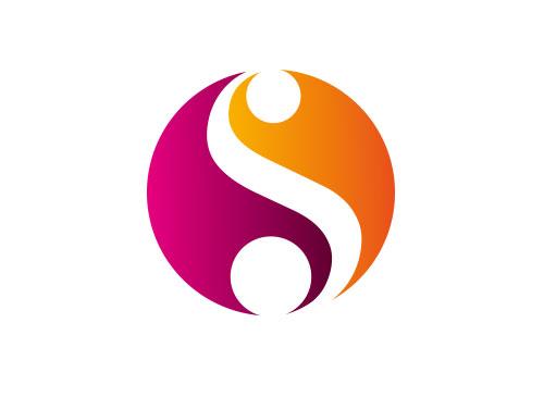 Zeichen, zweifarbig, Signet, Symbol, S