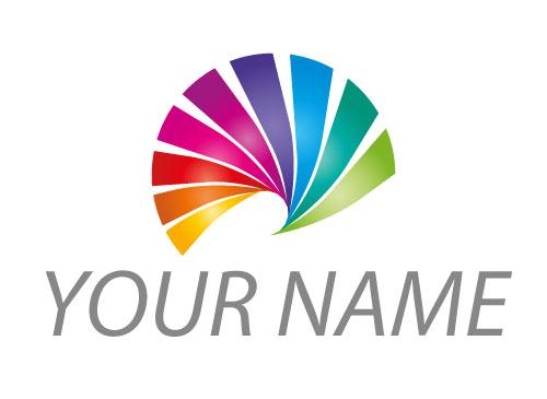 Zeichen, Zeichnung, Spirale in Regenbogenfarben, Spektrum, Logo