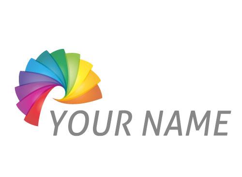 Zeichen, Zeichnung, Spirale, Farbig, Spektrum, Logo