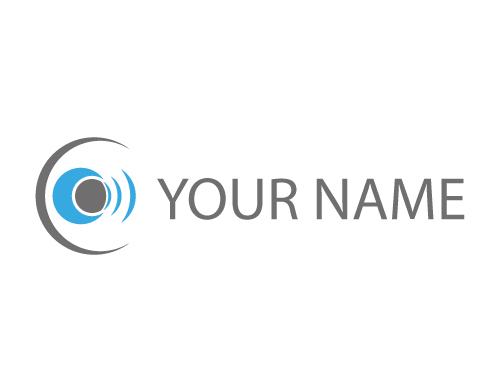 Zweifarbig, Kugel, Kreise, Wellen, Auge, Logo