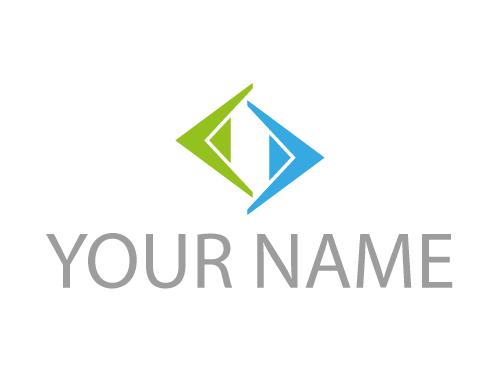 Zweifarbig, Dreiecke , Pfeile, Logo